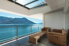 Mooie veranda van een penthouse Royalty-vrije Stock Afbeelding