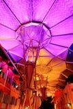 Mooie verlichting in Clarke Quay Stock Foto