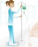 Mooie verpleegster in het ziekenhuis Stock Afbeelding