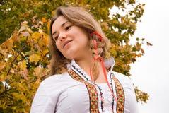 Mooie vettige vrouw Stock Foto