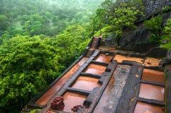 Mooie vew van Sigiriya Lion Rock, Sri Lanka stock foto