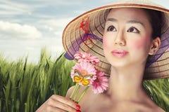 Mooie Vietnamees Royalty-vrije Stock Afbeelding