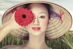 Mooie Vietnamees Stock Afbeeldingen