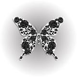 Mooie vlinder met bloemenpatroon vector illustratie
