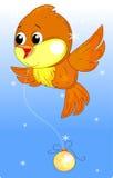 Mooie vogel royalty-vrije illustratie