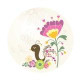 Mooie vogel in de tuin Stock Afbeeldingen