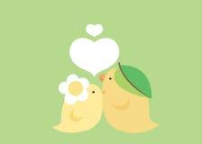 Mooie vogel in groen Stock Afbeelding