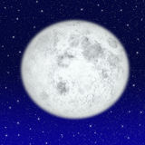Mooie volle maan Royalty-vrije Stock Afbeeldingen