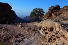 Mooie vormingen van Petra Mountains stock afbeelding