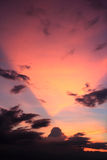 Mooie vreedzame zonsondergang Royalty-vrije Stock Foto