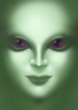 Mooie vreemde dichte omhooggaand van het vrouwengezicht Royalty-vrije Stock Afbeelding