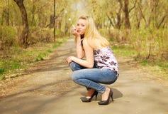 Mooie vrouw Stock Foto