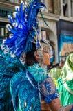 Mooie vrouw bij Notting-Heuvel Carnaval Royalty-vrije Stock Foto's
