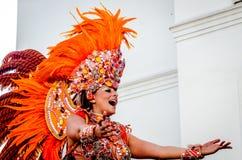 Mooie vrouw bij Notting-Heuvel Carnaval Stock Foto's