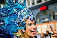 Mooie vrouw bij Notting-Heuvel Carnaval Stock Foto