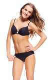 Mooie vrouw in bikini Stock Afbeelding