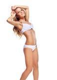 Mooie vrouw in bikini Royalty-vrije Stock Foto's