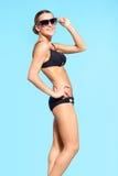 Mooie vrouw in bikini Royalty-vrije Stock Foto