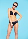 Mooie vrouw in bikini Stock Fotografie