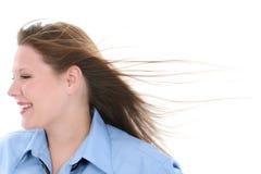 Mooie Vrouw in Blauw Royalty-vrije Stock Foto