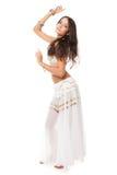 Mooie vrouw in de buikdans Stock Foto