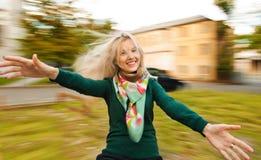 Mooie vrouw in de herfst Stock Foto's