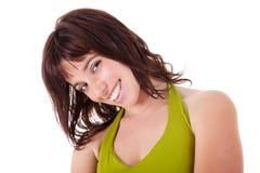 Mooie Vrouw die glimlacht, Royalty-vrije Stock Foto's