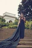 Mooie vrouw in donkere tiara stock foto
