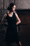 Mooie vrouw in een kleding Royalty-vrije Stock Foto's