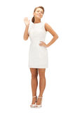 Mooie vrouw in elegante kleding royalty-vrije stock foto's