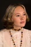 Mooie vrouw in geïsoleerdet droom van geluk Royalty-vrije Stock Foto's