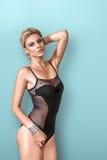 Mooie vrouw in lingerie Royalty-vrije Stock Foto's