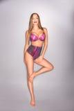 Mooie vrouw in lingery Royalty-vrije Stock Foto's