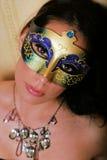 Mooie vrouw in masker royalty-vrije stock foto