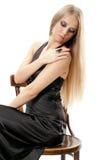 Mooie vrouw met avondsamenstelling Royalty-vrije Stock Foto
