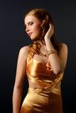 Mooie vrouw met avondsamenstelling Royalty-vrije Stock Afbeelding