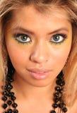 Mooie vrouw met blauwe ogen Royalty-vrije Stock Fotografie