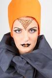 Mooie vrouw met creatieve samenstelling Royalty-vrije Stock Fotografie