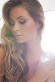 Mooie vrouw met diamant Royalty-vrije Stock Foto