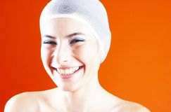 Mooie vrouw met een mooie glimlach. Royalty-vrije Stock Fotografie