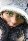Mooie vrouw met hoed Stock Afbeeldingen
