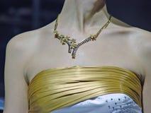 Mooie vrouw met juwelen Stock Afbeelding