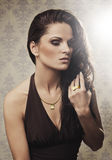 Mooie vrouw met juwelen 2 Royalty-vrije Stock Foto's