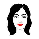Mooie vrouw met kapsel en make-up Stock Foto