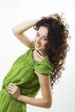 Mooie vrouw met krullen royalty-vrije stock fotografie