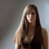 Mooie Vrouw met Lang Haar stock fotografie
