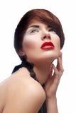 Mooie vrouw met make-up Royalty-vrije Stock Afbeelding