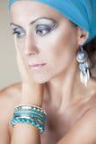 Mooie vrouw met make-up Royalty-vrije Stock Fotografie