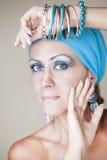 Mooie vrouw met make-up Royalty-vrije Stock Foto
