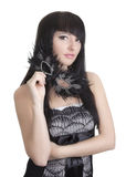 Mooie vrouw met masker Royalty-vrije Stock Afbeelding